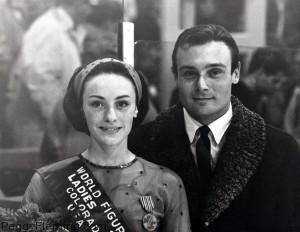 Peggy Fleming with Coach Bob Paul